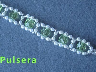 # DIY - Pulsera de esmeraldas perlas # DIY - pearl emerald bracelet