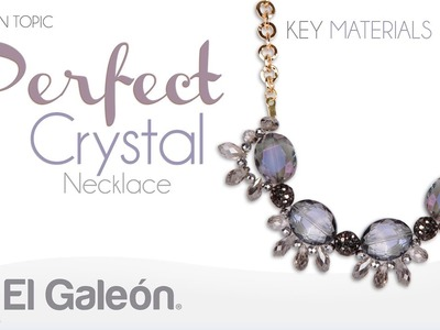 Fashion Topic El Galeón Perfect Crystal Necklace Collar con Cristales