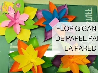 Flor Gigante de Papel para la Pared - Video #5 | Luzka's Creations ✿