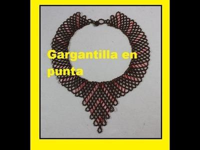 GARGANTILLA EN PUNTA COMO CAMBIAR DE HILO NILON A UN COLLAR