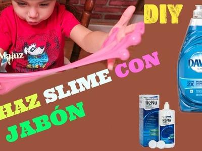 HAZ SLIME CON JABÓN líquido DAWN para trastes | Slime MOCO de GORILA SIN BÓRAX ni almidón