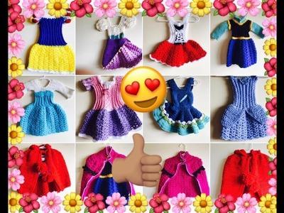 Mi coleccion de vestiditos de las princesasa a crochet