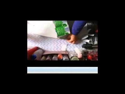 Organizadores  reciclados con cajas de leche