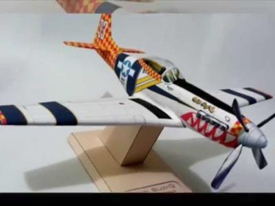 "P-51 Mustang ""Suzy-Q"" Modelo de Papel"