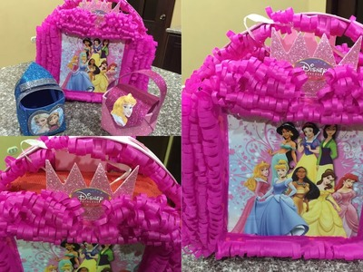 Piñata princesas en forma de cartera, Princesses piñata shaped bag