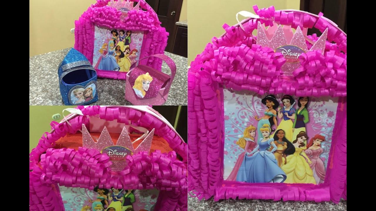 Piñata princesas en forma de cartera, Princesses piñata shaped bag