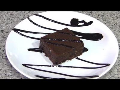 Receta de brownie de chocolate sin azúcar apto para diabéticos