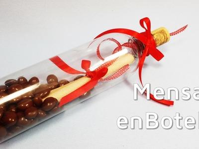 Regalos para San Valentín: mensaje en una botella