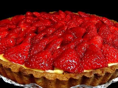 Tarta de fresas. Recetas de postres
