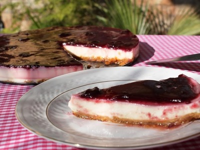 Tarta de yogur sin lactosa (sin horno)