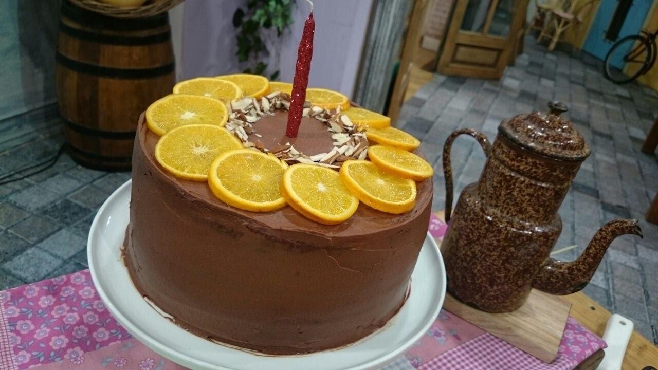 Torta de mandarinas y chocolate para el cumple de Cala