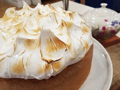 Torta lemon pie con leche condensada y merengue al mircoondas