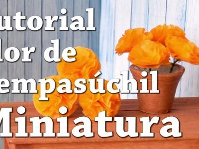 Tutorial como hacer una flor de cempasuchil en miniatura | Lunita Miniatures