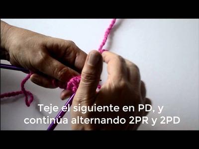 Tutorial Como Tejer Punto Falso Inglés - Pearl Knitter