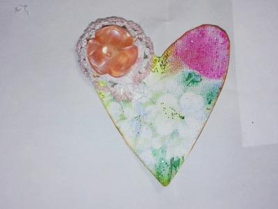 Tutorial embellecedor corazon. Heart embellishment tutorial