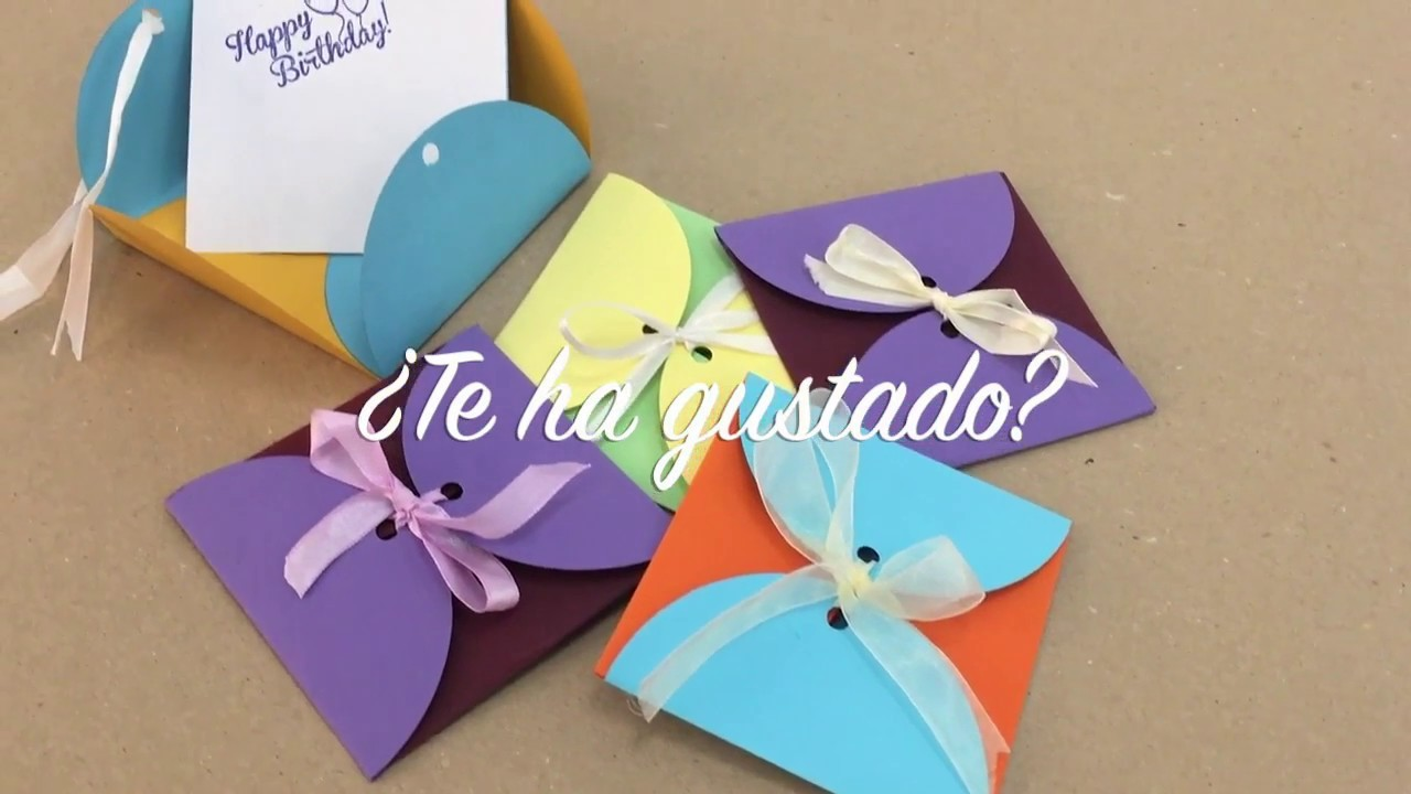 Video manualidad cómo hacer invitación de cumpleaños