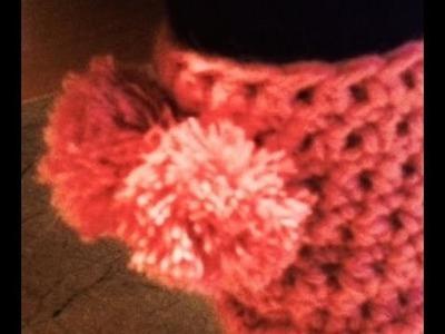 Calentadores rosa a crochet. ganchillo. Pompones rápidos. Tutorial 1. 2