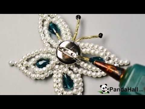 Cómo hacer broche de mariposa de perla paso a paso?