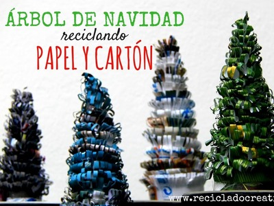 Cómo hacer un árbol de navidad reciclando papel - How to make a Christmas Tree out of recycled paper