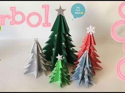 Como hacer un fácil y bonito árbol de navidad con solo una cartulina