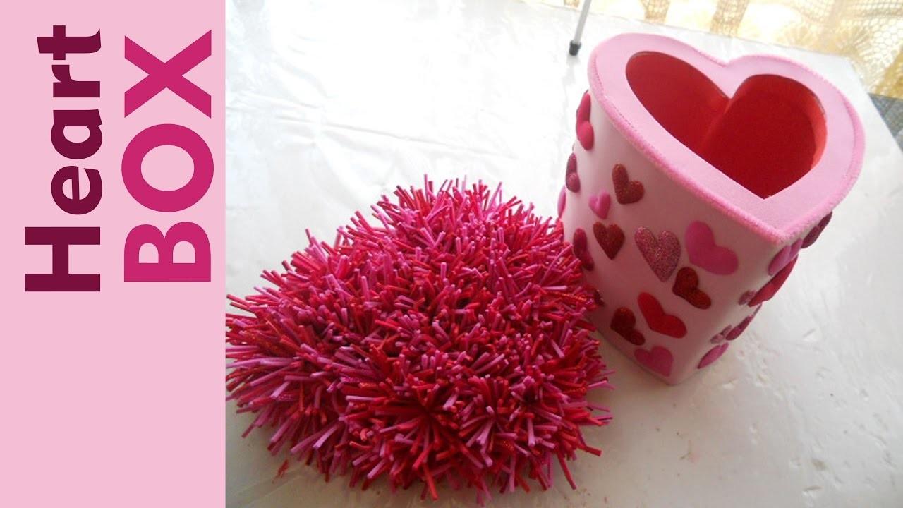 Como hacer una Caja de Regalo CORAZÓN How to Make a Gift Box with Heart Shape Tutorial Inerya viris