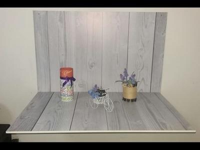 Como hacer una mesa plegable multiusos  (mesa para estudio de fotos)