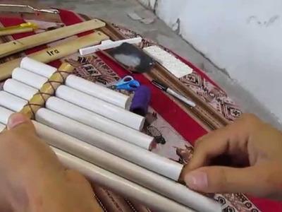 Construcción de sikus con PVC