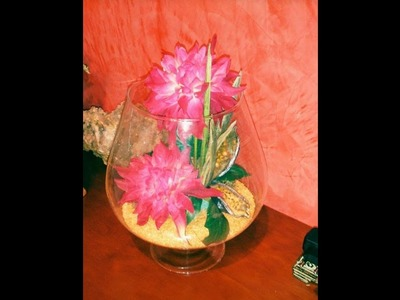 Copa de cristal decorada. Aprende con lola