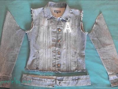 De chaqueta a chaleco sin coser DIY Jeans