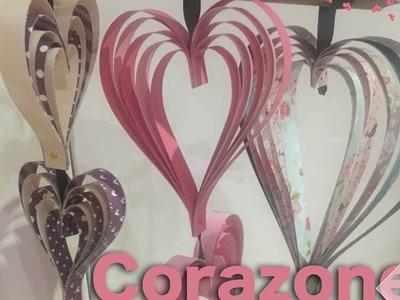 Decoración de corazónes para San Valentín
