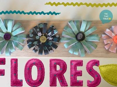 Flores con tiras de papel