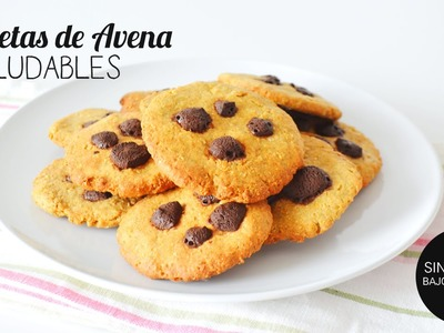 Galletas de AVENA con chispas de chocolate SALUDABLES  Y FÁCILES | BACK TO SCHOOL
