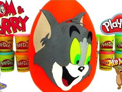 Huevo Sorpresa Gigante de Tom de Tom y Jerry de Plastilina Play-Doh en Español