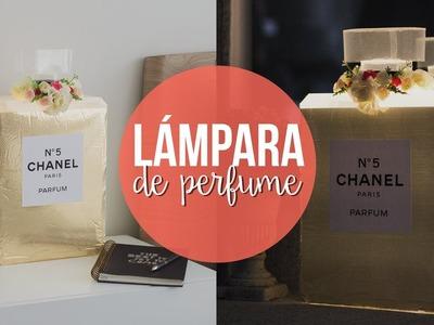 LÁMPARA EN FORMA DE PERFUME, FÁCIL! | @paperpopmx