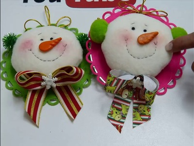 Lindos hombre de nieve para decorar el árbol de navidad,
