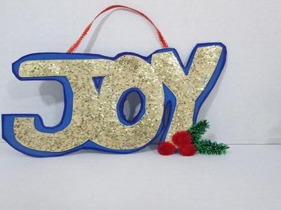 Manualidad para Navidad como hacer letras con goma eva caja de cereal reciclada- Practiko