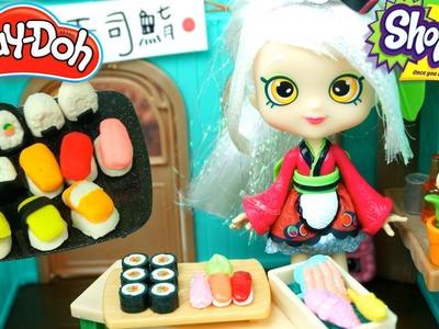 Muñeca Shopkins Sara Sushi y Restaurante de Juguete   Sushi Comida de Plastilina Play Doh
