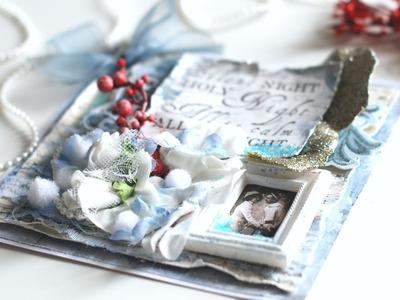 Navidad #4 - Tarjeta Vintage. Shabby