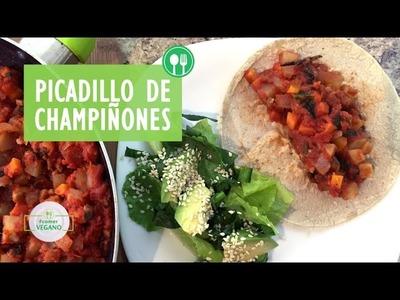 PICADILLO DE CHAMPIÑONES   Comer Vegano