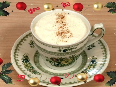 Ponche de Navidad o EggNog Tradicional Americano