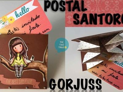 Postal o invitación de las muñecas santoro gorjuss