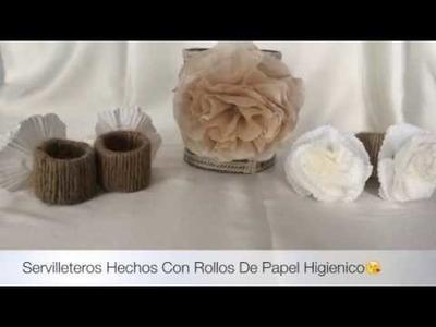 Servilleteros Hechos Con Rollos De Papel Higienico