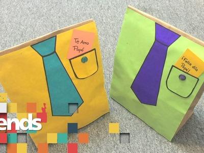 TUTORIAL | Bolsas de regalo para el Día del Padre con materiales reciclados | Azteca Trends