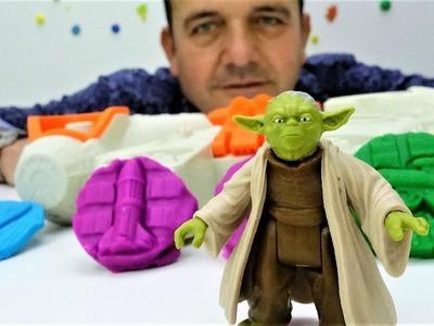 Videos para niños. Play Doh juguetes de Star Wars