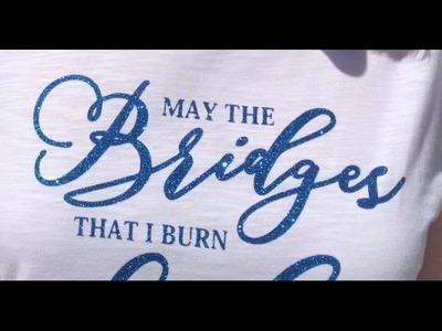VINILO GLITTER: Como decorar una camiseta con vinilo textil - con frases