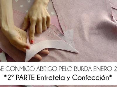 2ª PARTE COSE CONMIGO ABRIGO PELO BURDA - ENTRETELA, VISTA Y CUÑA