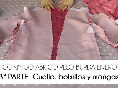 3ª PARTE COSE CONMIGO ABRIGO PELO BURDA - CUELLO, BOLSILLOS Y MANGAS