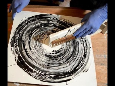 Abstract Art Painting Acrylic Circle Techniques Black and White