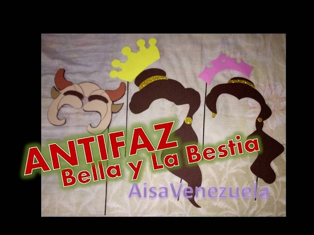Antifaz con foami de bella y la bestia fiesta infantil tematica | AisaVenezuela