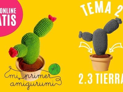 Cactus amigurumi | Ganchillo paso a paso | Tema 2.3:  Tierra | Curso Online Mi primer amigurumi